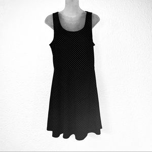 H&M Dresses - H&M Polka Dot Print Fit & Flare Dress Medium Black